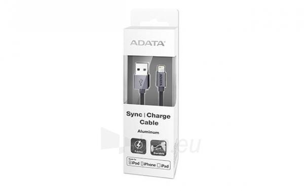 USB Kabelis ADATA, USB, MFi (iPhone, iPad, iPod), juodas Paveikslėlis 1 iš 1 310820043846