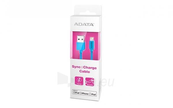 USB Kabelis ADATA, USB, MFi (iPhone, iPad, iPod), mėlynas Paveikslėlis 1 iš 1 310820043847