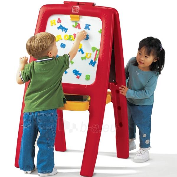 Vaikiška dvipusė magnetinė lenta dviems | Easel for Two | Step2 Paveikslėlis 1 iš 4 310820003552