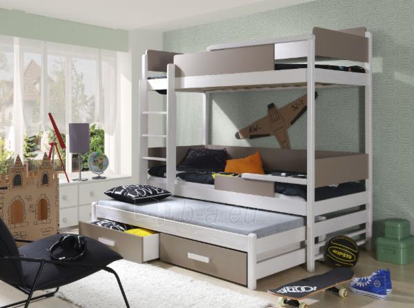 Vaikiška trivietė lova QUATRO Paveikslėlis 2 iš 6 310820128587