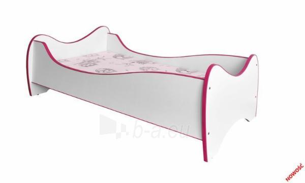 Vaikiška lova DUO balta/rožinė Paveikslėlis 2 iš 2 310820091949