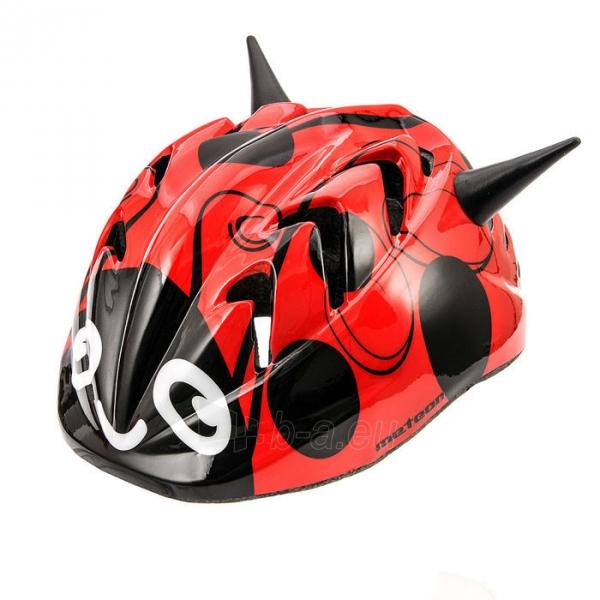 Vaikiškas dviratininko šalmas Meteor MV7 Ladybug Paveikslėlis 1 iš 1 310820011854