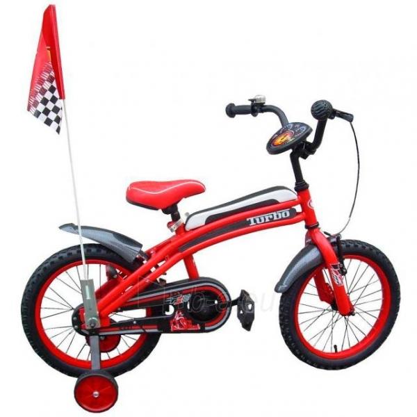 Vaikiškas dviratis Turbo F1 16 Paveikslėlis 1 iš 1 250702000389