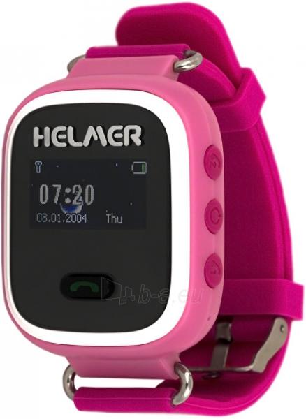 Vaikiškas laikrodis HELMER Chytré hodinky s GPS lokátorem LK 702 růžové Paveikslėlis 1 iš 8 310820133521