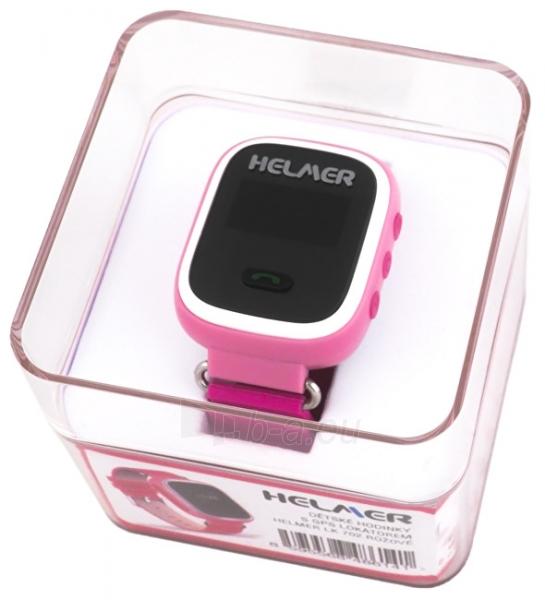 Vaikiškas laikrodis HELMER Chytré hodinky s GPS lokátorem LK 702 růžové Paveikslėlis 4 iš 8 310820133521