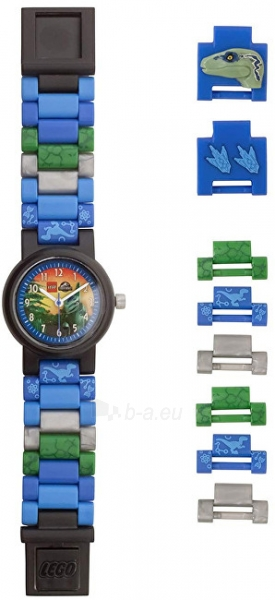 Vaikiškas laikrodis Lego Jurský svět Blue 8021285 Paveikslėlis 3 iš 5 310820171799