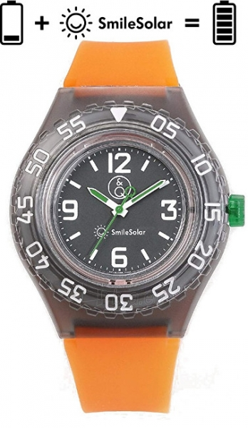 Vaikiškas laikrodis Q&Q SmileSolar 20BAR Series 002 RP16J006 Paveikslėlis 1 iš 4 310820171216