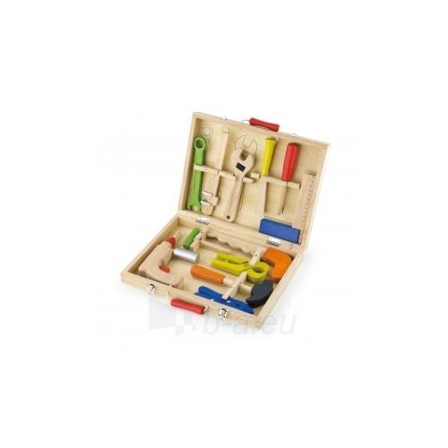 Vaikiškas medinis įrankių rinkinys su atsuktuvu lagamine | Viga Toys Paveikslėlis 3 iš 4 310820160885