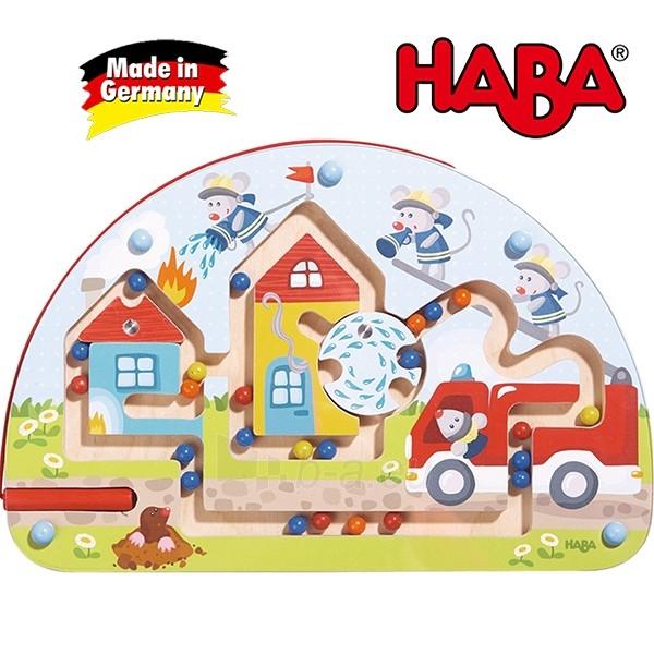 Vaikiškas medinis magnetinis stalo žaidimas Pelės ugniagesiai | Haba Paveikslėlis 2 iš 4 310820095371