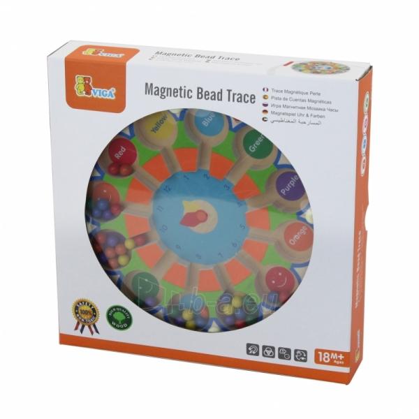 Vaikiškas medinis magnetinis žaidimas-labirintas | Laikrodis | Viga Toys Paveikslėlis 2 iš 2 310820157447