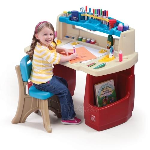 Vaikiškas menininkų liukso darbo stalas | Deluxe Art Master Desk | Step2 Paveikslėlis 1 iš 4 310820004230
