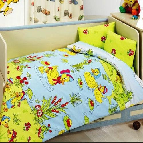 Vaikiškas patalynės komplektas ''Ducks'', 4 dalių, 100x150 cm Paveikslėlis 1 iš 1 30115700361