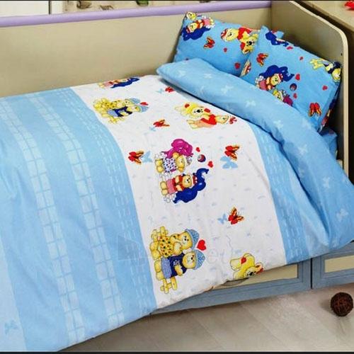 Vaikiškas patalynės komplektas ''Mini Bears'', 4 dalių, 100x150 cm Paveikslėlis 1 iš 1 30115700370