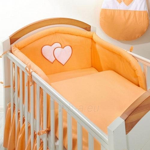 Vaikiškas patalynės komplektas ''Oranžinė Širdelė'', 6 dalių, 90x120 cm Paveikslėlis 1 iš 1 30115700371