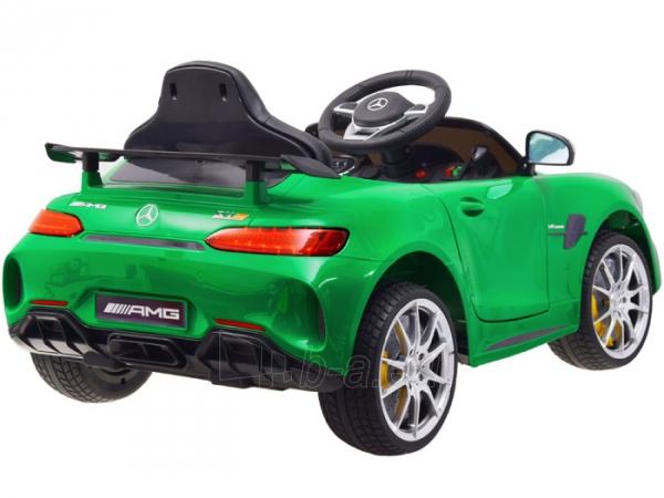 Vaikiškas vienvietis elektromobilis Mercedes AMG GT R, žalias Paveikslėlis 13 iš 14 310820193298