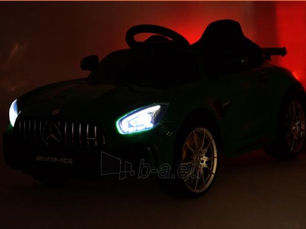 Vaikiškas vienvietis elektromobilis Mercedes AMG GT R, žalias Paveikslėlis 10 iš 14 310820193298