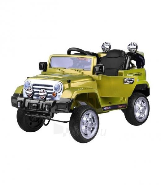 Vaikiškas vienvietis elektromobilis Jeep, žalias Paveikslėlis 1 iš 4 310820254181