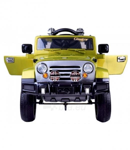 Vaikiškas vienvietis elektromobilis Jeep, žalias Paveikslėlis 2 iš 4 310820254181
