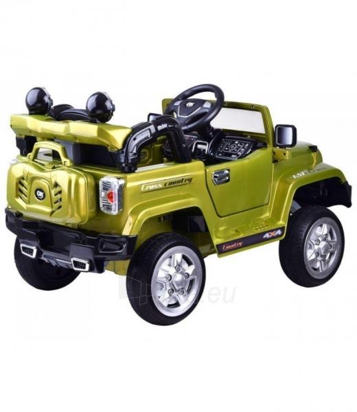Vaikiškas vienvietis elektromobilis Jeep, žalias Paveikslėlis 3 iš 4 310820254181