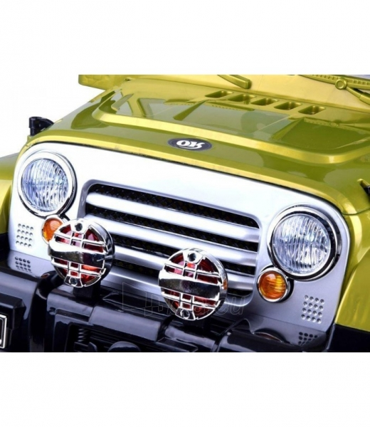Vaikiškas vienvietis elektromobilis Jeep, žalias Paveikslėlis 4 iš 4 310820254181