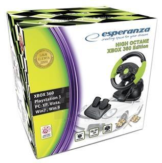 Vairas su vibracija Esperanza PC/PS3/XBOX EG104 HIGH OCTANE XBOX 360 Paveikslėlis 4 iš 4 310820044344