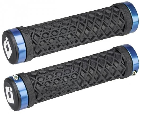 Vairo rankenėlės ODI Vans® Lock-On Black w/ Blue Clamps Paveikslėlis 1 iš 1 310820250890