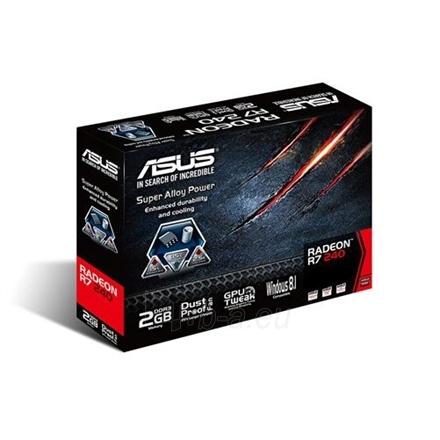 Vaizdo plokštė ASUS R7240-2GD3-L / AMD Radeon R7 240 / PCI-E 3.0 / GDDR3 2GB / 128-bit / Memo 900 MHz / D-Sub / 1xDVI-D /HDMI / HDCP Paveikslėlis 1 iš 4 250255061046