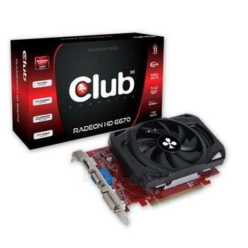 CLUB 3D HD 6670 PCIE 1GB DDR3 DVI/HDMI Paveikslėlis 1 iš 1 250255060396
