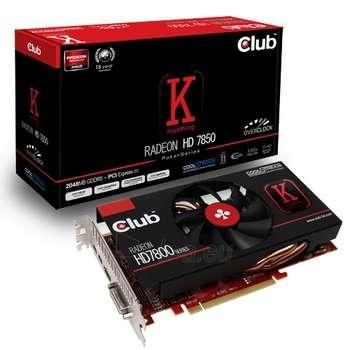CLUB 3D HD7850 PCIE 2GB D5 COOLSTREAM OC Paveikslėlis 1 iš 1 250255060417