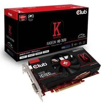 CLUB 3D HD7870 PCIE 2GB D5 COOLSTREAM OC Paveikslėlis 1 iš 1 250255060420