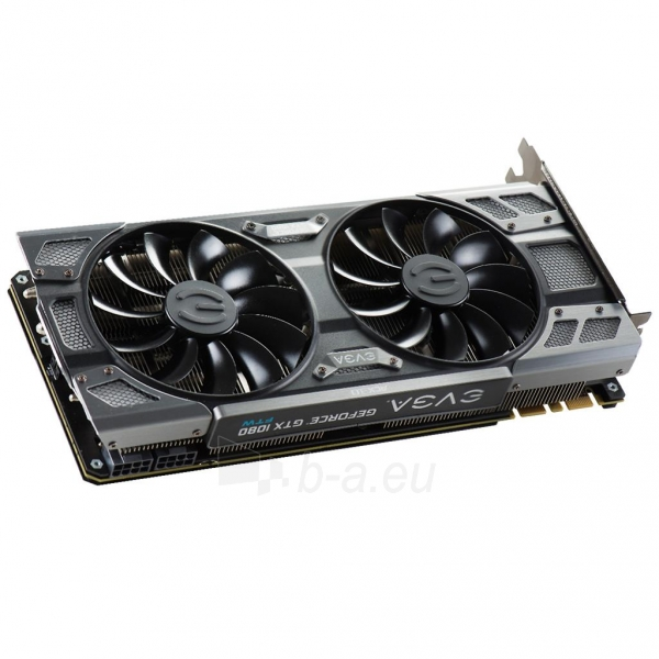 Vaizdo plokštė EVGA GeForce GTX 1080 FTW GAMING ACX 3.0, 8GB GDDR5X (256 Bit), HDMI, DVI, 3xDP Paveikslėlis 6 iš 8 310820047108