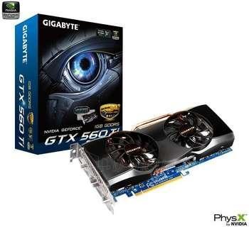 GIGABYTE GTX560 TI PCIE 1GB GDDR5 2XDVI Paveikslėlis 1 iš 1 250255060437