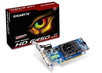 Vaizdo plokštė GIGABYTE HD6450 PCIE 1GB DDR3 HDMI OC Paveikslėlis 1 iš 1 250255060440