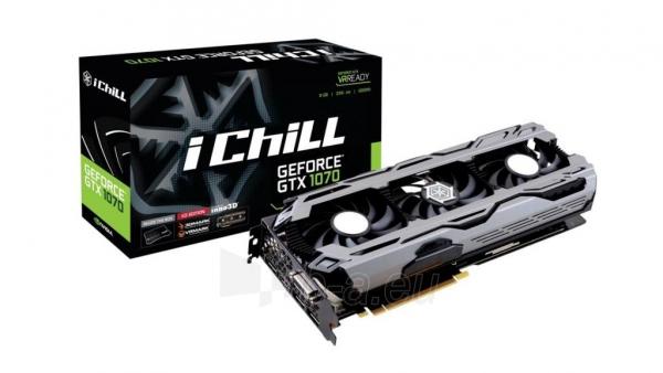Vaizdo plokštė Inno3D iChill GeForce GTX 1070 X3, 8GB GDDR5 (256 Bit), HDMI, DVI, 3xDP Paveikslėlis 1 iš 2 310820045979