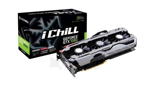 Vaizdo plokštė Inno3D iChill GeForce GTX 1080 X4, 8GB GDDR5X (256 Bit), HDMI, DVI, 3xDP Paveikslėlis 2 iš 2 310820050103
