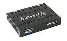 Vaizdo plokštė MATROX DUALHEAD2GO VGA->DUAL VGA USB Paveikslėlis 1 iš 1 250255060463