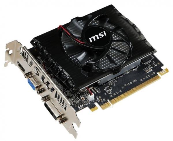 MSI GeForce GT 730 V2, 2GB GDDR3 (128 Bit), HDMI, DVI, D-Sub Paveikslėlis 1 iš 1 250255061632