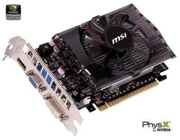 MSI GT630 PCIE 1GB GDDR3 DVI+HDMI+VGA Paveikslėlis 1 iš 1 250255060650