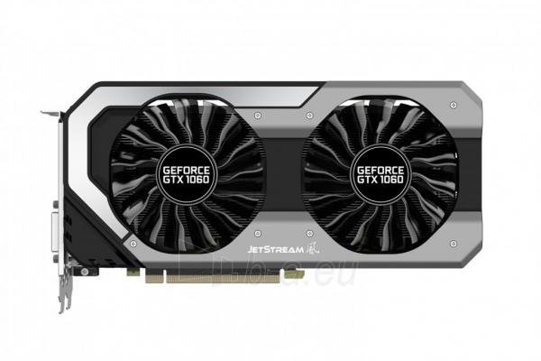 Vaizdo plokštė PALIT GeForce GTX 1060 JetStream, 6GB GDDR5 (192 Bit), HDMI, DVI, 3xDP Paveikslėlis 9 iš 10 310820045332