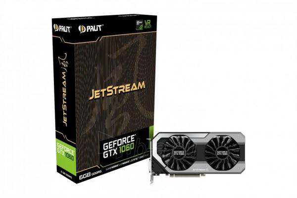 Vaizdo plokštė PALIT GeForce GTX 1060 JetStream, 6GB GDDR5 (192 Bit), HDMI, DVI, 3xDP Paveikslėlis 10 iš 10 310820045332