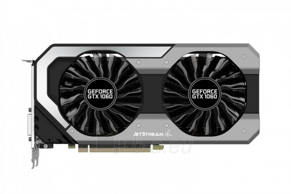 Vaizdo plokštė PALIT GeForce GTX 1060 Super JetStream, 6GB GDDR5 (192 Bit), DVI, 3xDP Paveikslėlis 9 iš 10 310820045333