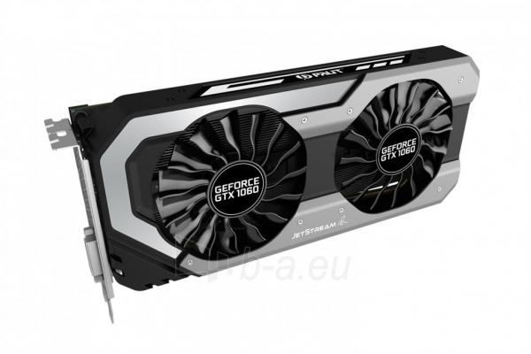 Vaizdo plokštė PALIT GeForce GTX 1060 Super JetStream, 6GB GDDR5 (192 Bit), DVI, 3xDP Paveikslėlis 6 iš 10 310820045333