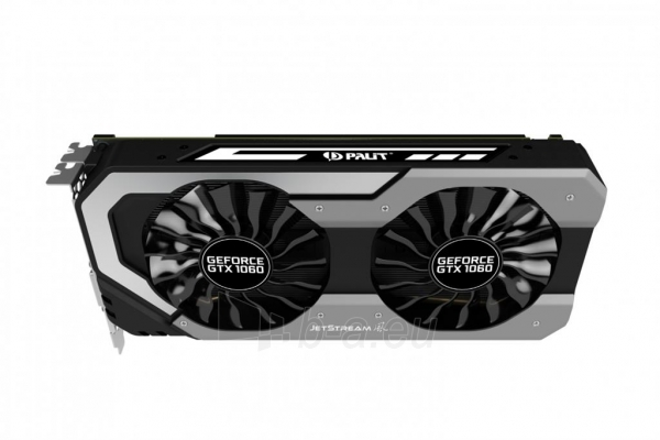 Vaizdo plokštė PALIT GeForce GTX 1060 Super JetStream, 6GB GDDR5 (192 Bit), DVI, 3xDP Paveikslėlis 5 iš 10 310820045333