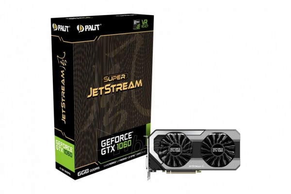 Vaizdo plokštė PALIT GeForce GTX 1060 Super JetStream, 6GB GDDR5 (192 Bit), DVI, 3xDP Paveikslėlis 10 iš 10 310820045333