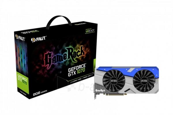 Vaizdo plokštė PALIT GeForce GTX 1070 GameRock, 8GB GDDR5 (256 Bit), HDMI, DVI, 3xDP Paveikslėlis 6 iš 10 310820047121