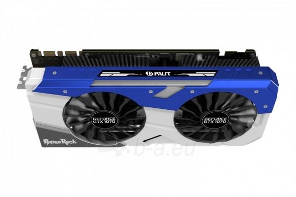 Vaizdo plokštė PALIT GeForce GTX 1070 GameRock, 8GB GDDR5 (256 Bit), HDMI, DVI, 3xDP Paveikslėlis 3 iš 10 310820047121