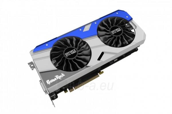 Vaizdo plokštė PALIT GeForce GTX 1080 GameRock Premium, 8GB GDDR5X (256 Bit), HDMI, DVI, 3xDP Paveikslėlis 1 iš 4 310820047122