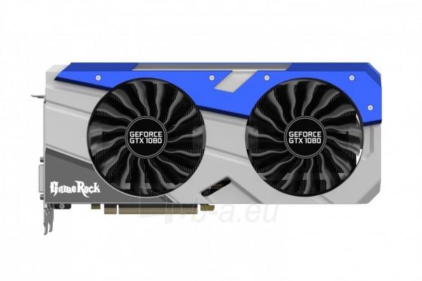 Vaizdo plokštė PALIT GeForce GTX 1080 GameRock Premium, 8GB GDDR5X (256 Bit), HDMI, DVI, 3xDP Paveikslėlis 2 iš 4 310820047122