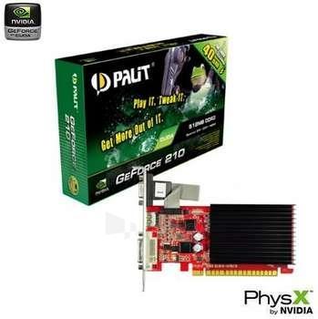 Vaizdo plokštė PALIT GF 210 PCIE 512MB DDR3 SILENT HDMI Paveikslėlis 1 iš 1 250255060577