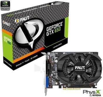 PALIT GTX650 1GB GDDR5 DVI/MHDMI/VGA Paveikslėlis 1 iš 1 250255060755